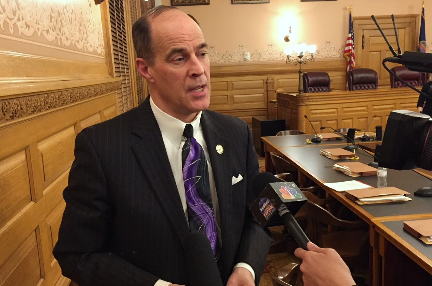 Republican Rep. Steven Johnson proposed the funding boost for schools. (Photo by Stephen Koranda)