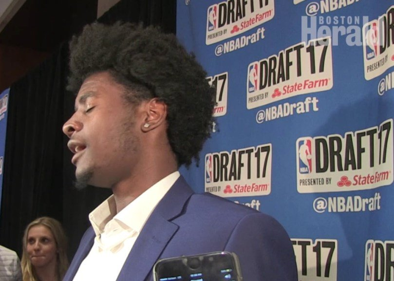 Former KU freshman Josh Jackson spoke with the media after being selected to play for the Phoenix Suns.​