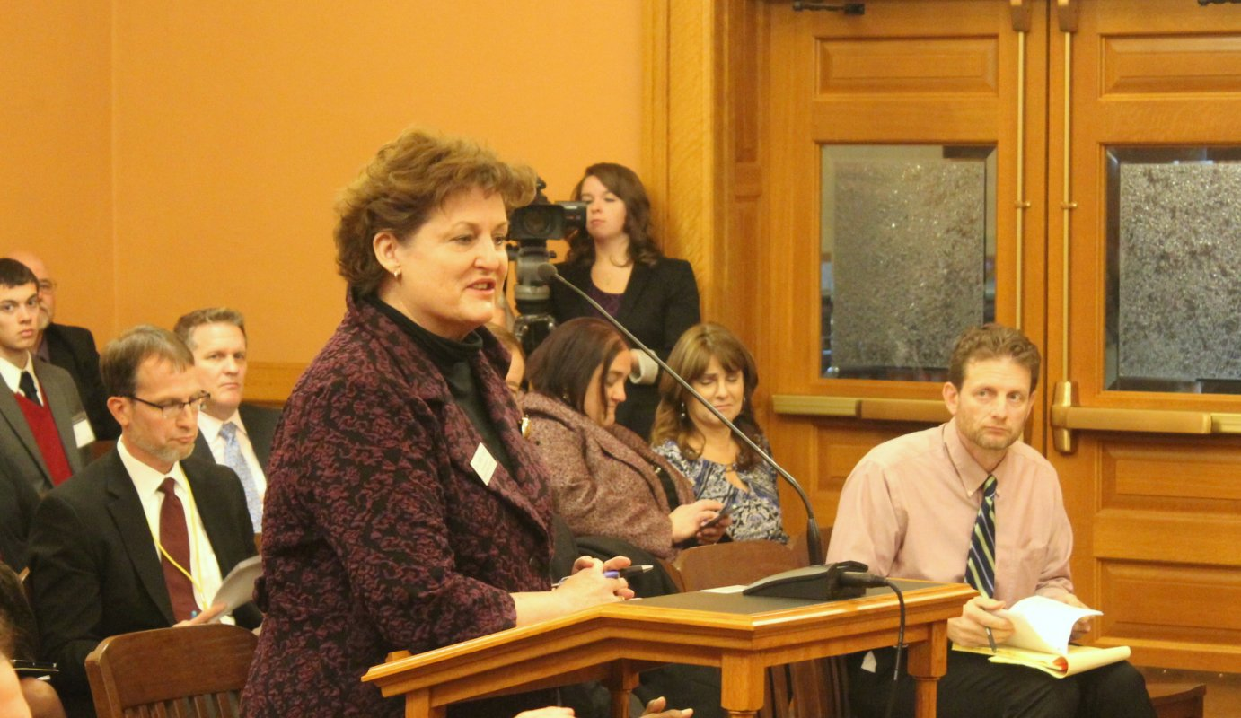 Topeka Public Schools Superintendent Julie Ford. (Photo by Stephen Koranda)