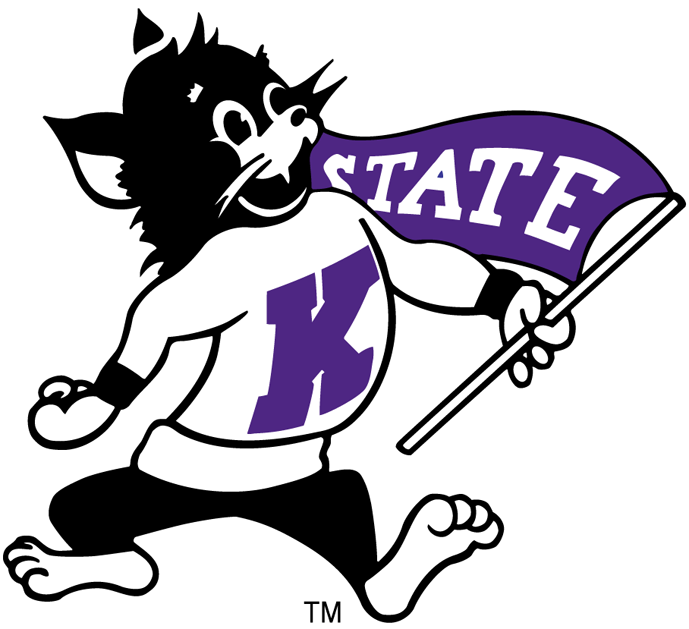 Willie the Wildcat, the old school version of the mascot for Kansas State University