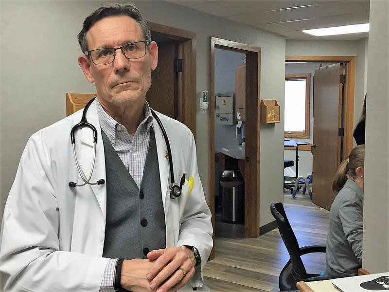 Dennis Cooley, a Topeka pediatrician, says dealing with three KanCare insurance companies, each with its own set of rules, has created administrative burdens for his staff. (photo credit: Jim McLean, Kansas News Service)