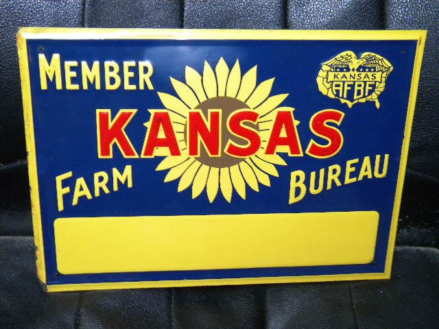 Old Kansas Farm Bureau sign