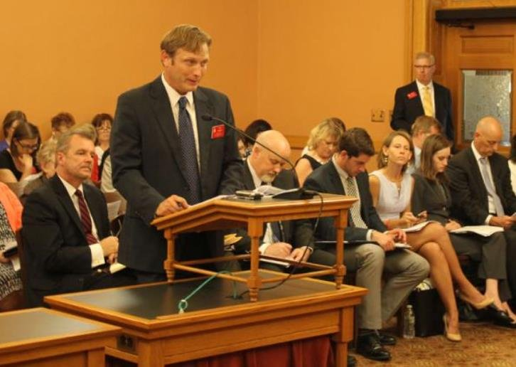 Kyle Kessler, executive director of the Association of Community Mental Health Centers of Kansas, is scheduled to address a legislative committee meeting Thursday. Photo by KHI News Service.