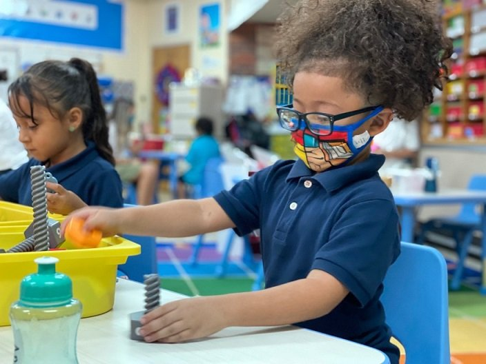 Kindergarten enrollment dropped nearly 9% in Kansas last year, as thousands of families opted to keep kids home during the pandemic. (Photo by Suzanne Perez Kansas News Service)