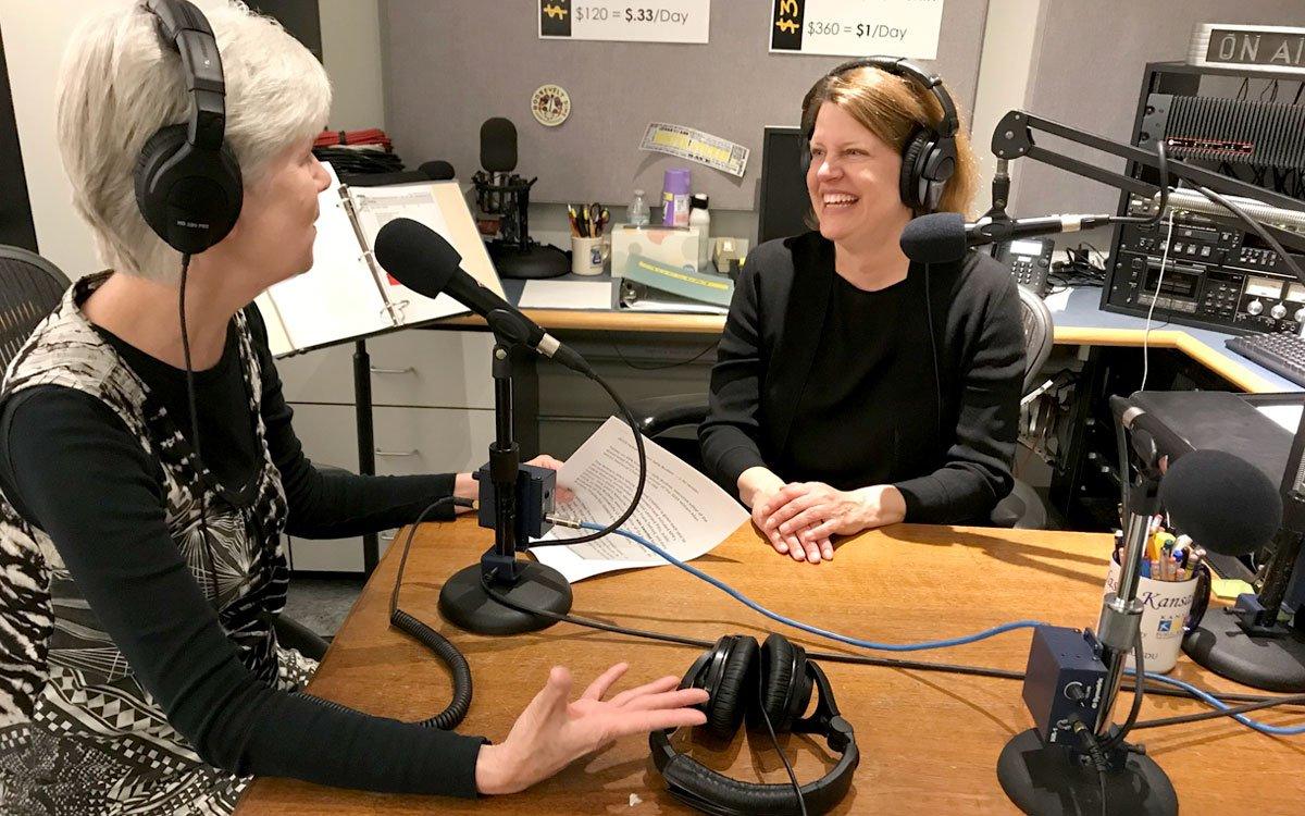 Kaye McIntyre and Sally Buzbee in KPR studio