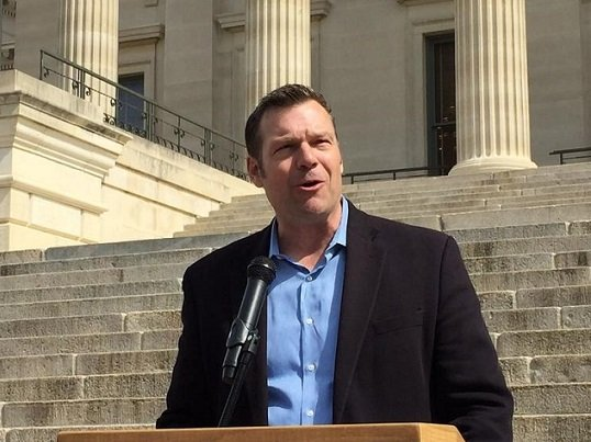 The ACLU has filed another federal lawsuit against Kansas Secretary of State Kris Kobach challenging a multi-state voter registration database that it claims exposed sensitive information from nearly a thousand voters. (Photo Credit: KCUR Radio)