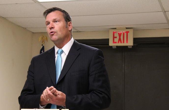 Kansas Secretary of State Kris Kobach told a federal judge that as many as18,000 non-citizens slipped onto the voter rolls before tighter rules were put in place. (Photo by Nadya Faulx, KMUW Radio)