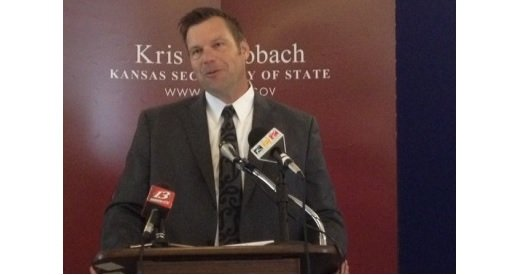 File photo of Kansas Secretary of State Kris Kobach (photo credit: Stephen Koranda)