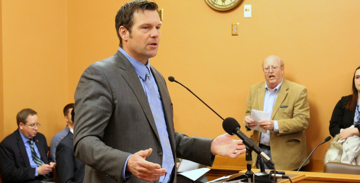 File photo of Kris Kobach by Stephen Koranda
