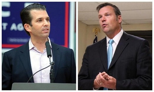 Donald Trump Jr. was the featured guest at a Tuesday night fundraiser for Kris Kobach in Wichita.  (Photo: KMUW Radio)