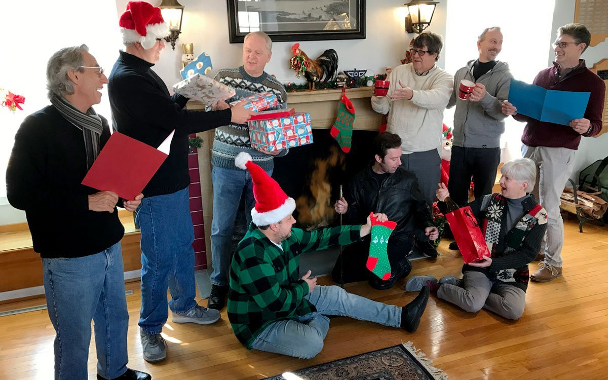 """The cast (well, most of them) of """"A KPR Christmas Carol"""""""
