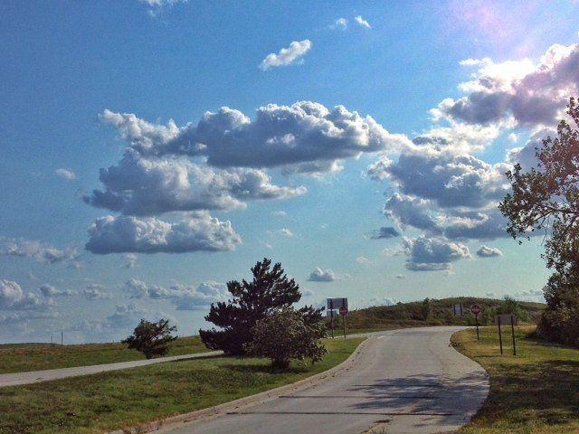 A stretch of Kansas roadway in northeast Kansas. (Photo by J. Schafer)