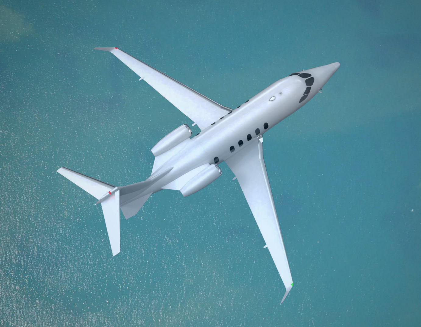 KU aerospace engineering students won three First Place awards at an international aerospace design competition sponsored by the AIAA.  It's the first time any school has captured all three top honors in any single competition.  This is a photo of an award-winning business jet, designed by one of KU's teams.