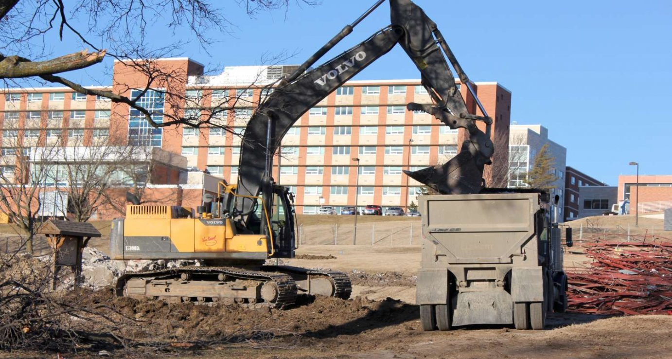 A construction site on the KU campus. (Photo by Stephen Koranda)