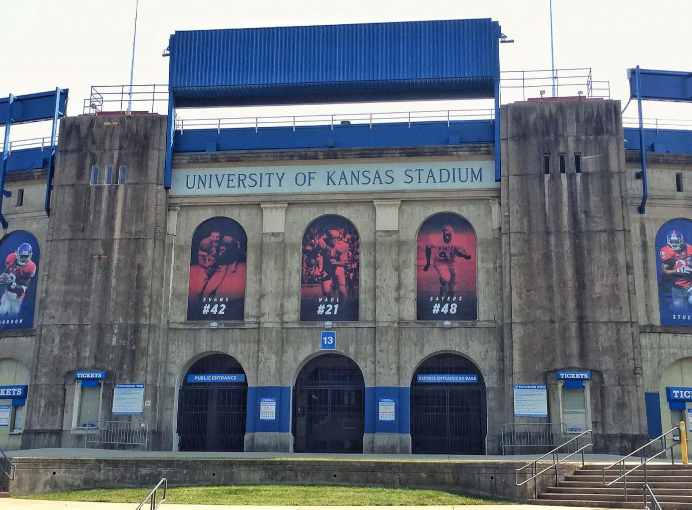 North entrance to Memorial Stadium at the University of Kansas (Photo by J. Schafer)
