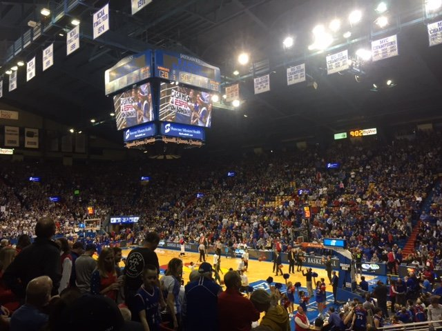 KU now has sole possession of the lead in the Big 12 standings. (Photo by J. Schafer)