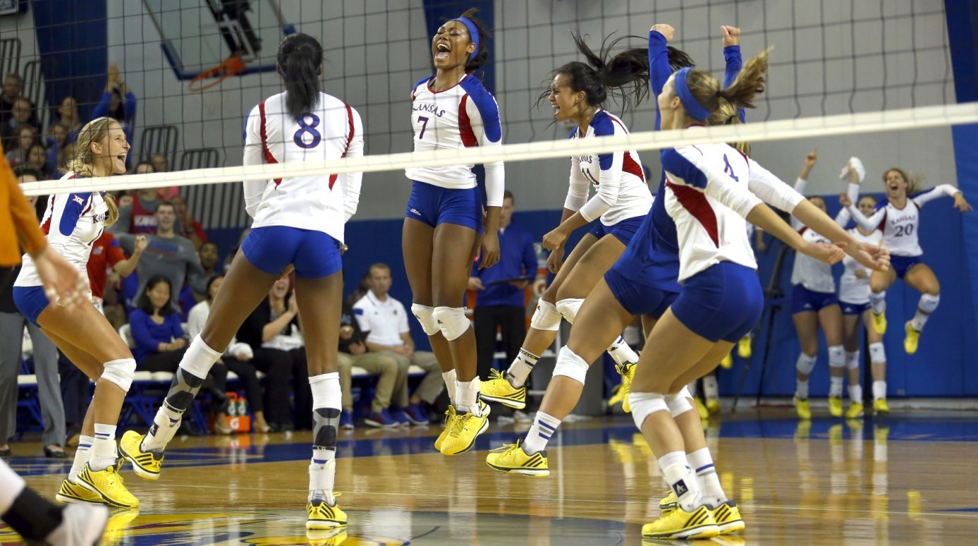 Members of the KU Volleyball team