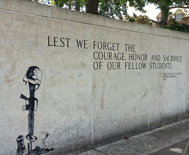 University of Kansas Vietnam War Memorial (Photo by J. Schafer)