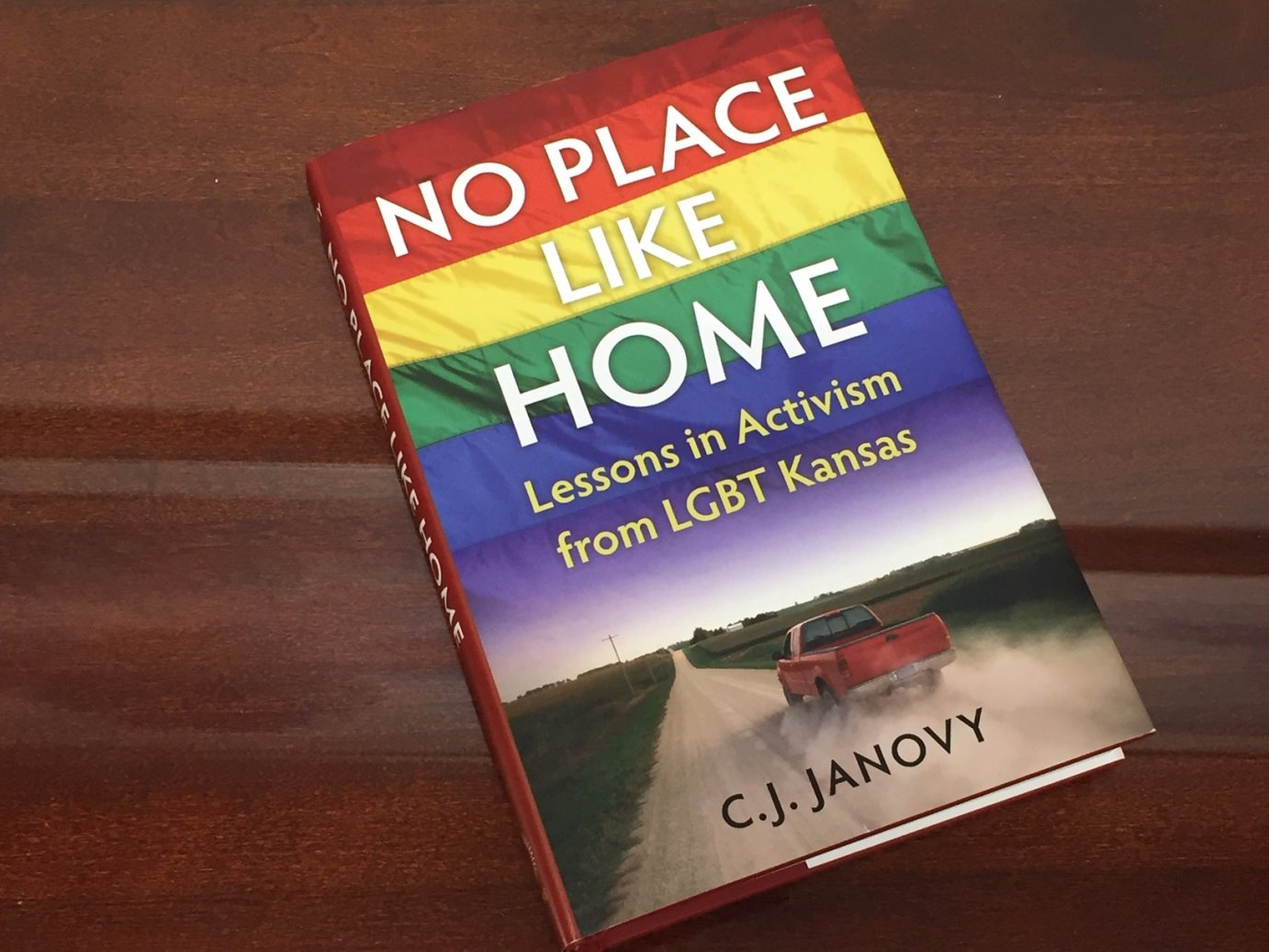 C.J. Janovy's book No Place Like Home, published by University Press of Kansas (Photo by J. Schafer)