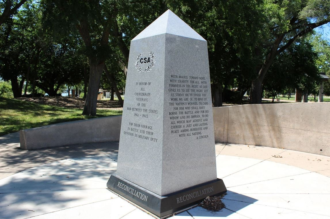 The Reconciliation Memorial in Wichita's Veterans Memorial Park. (Photo by Hugo Phan for the Kansas News Service)