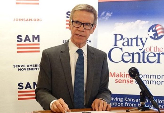 Lawrence businessman Scott Morgan is chair of the newly-formed Party of the Center. The Kansas group is joining forces with the Serve America Movement, a national non-profit group with similar goals. (Photo: KMUW Radio)