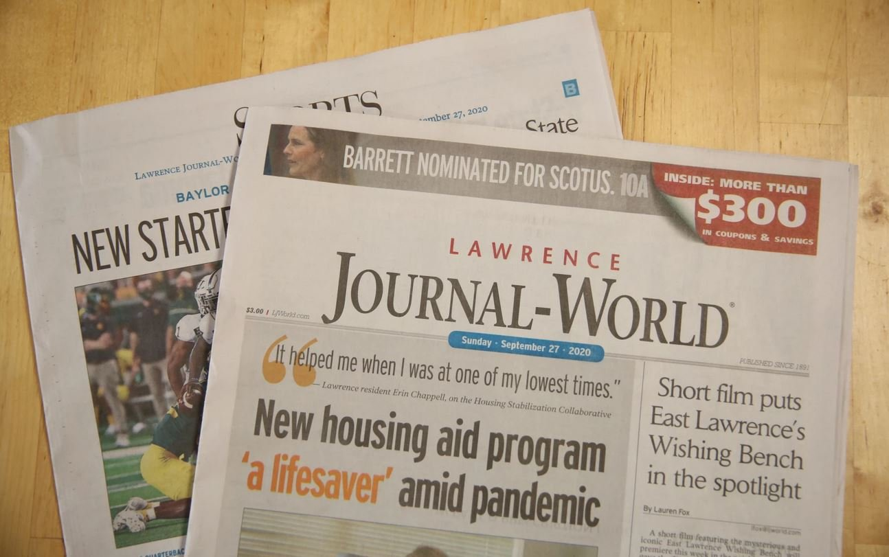 The Lawrence Journal-World, in northeast Kansas, has seen a 55% increase in pageviews throughout the pandemic. (Photo by Nomin Ujiyediin, Kansas News Service)