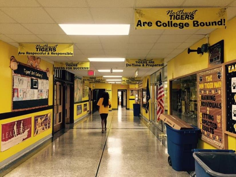 """Congress is working on an """"Obamacare"""" replacement bill that could affect Medicaid funding for Kansas school districts.(Photo of Northwest Middle School by KCUR Radio)"""
