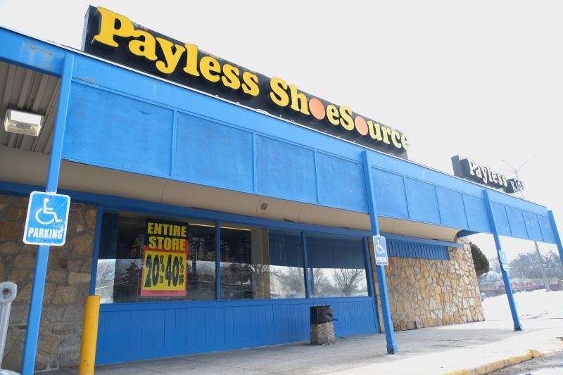 92663d4fa A Payless ShoeSource location inside Kansas City s The Landing Mall  advertises liquidation sales on Monday