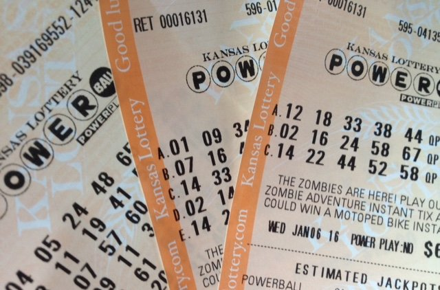 Powerball tickets, printed in Kansas (Photo by J. Schafer)