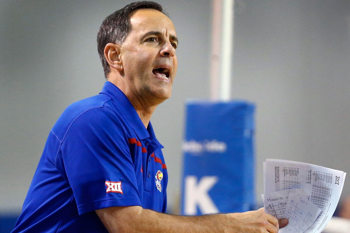 Jayhawks Volleyball Coach Ray Bechard is in his 18th season at KU and his 31st season overall. He's racked up more than 1,000 career victories, making him one of the winningest coaches in college sports.
