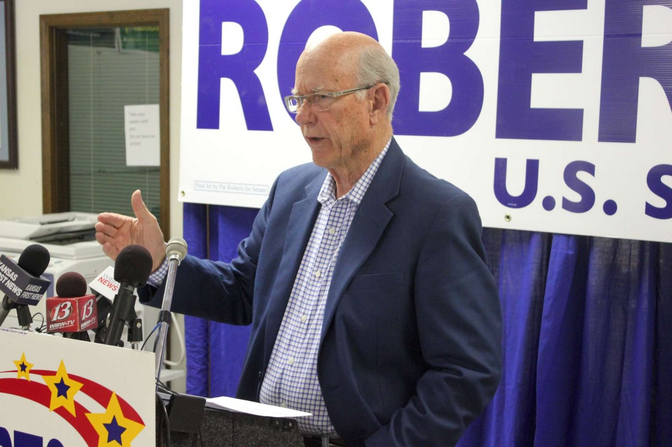 Kansas Senator Pat Roberts. (File photo by Stephen Koranda)