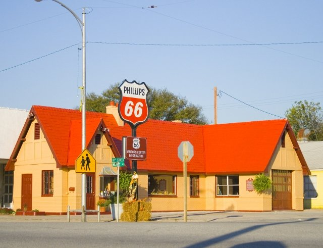 This old service station in Baxter Springs now serves as a Route 66 vistors' center and museum.