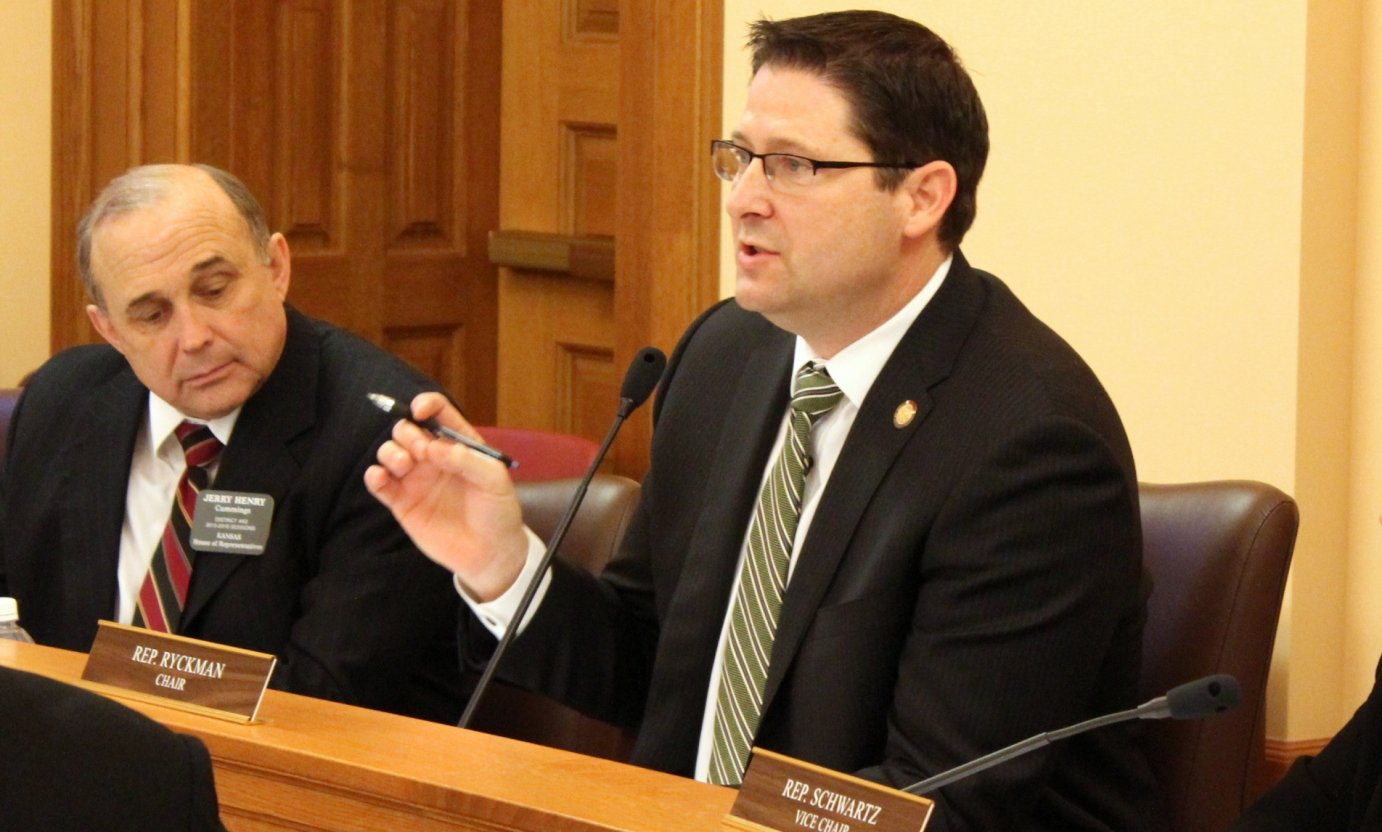 House Appropriations Committee Chairman Ron Ryckman speaking earlier this year. (Photo by Stephen Koranda)