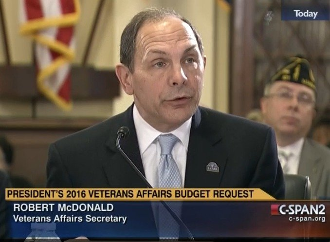 Secretary of Veterans Affairs Robert McDonald testifies before the House Veterans Affairs Committee (image via C-Span2)