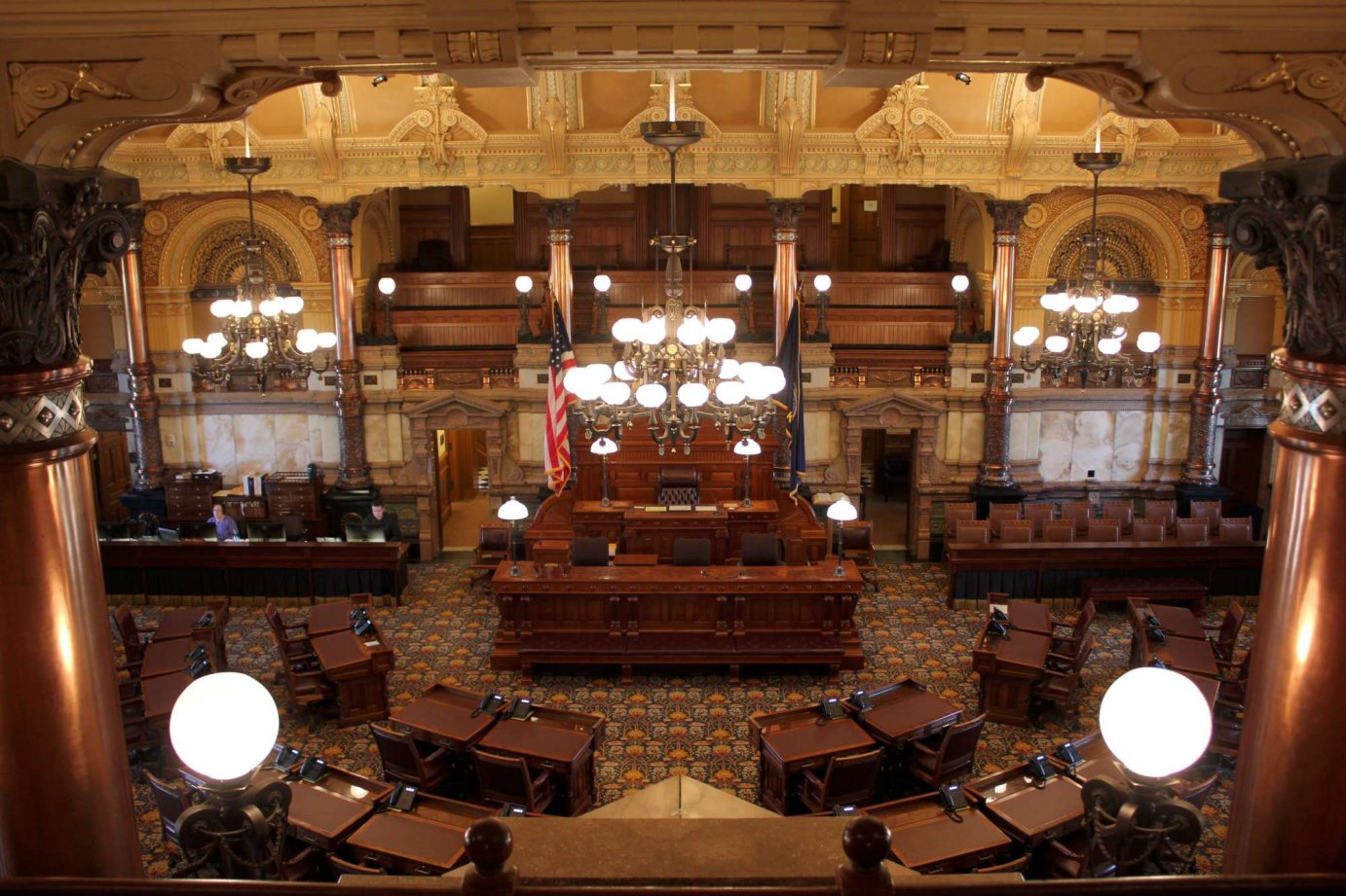 The Kansas Senate chamber. (Photo by Stephen Koranda)
