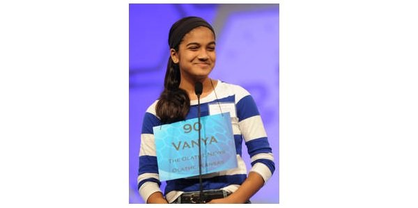 Spelling bee contestant Vanya Shivashankar of Olathe (Image credit: Mark Bowen/Scripps National Spelling Bee)