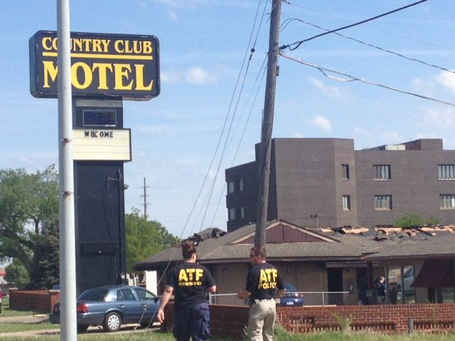Three federal agents were wounded at a Topeka motel during an exchange of gunfire with a fugitive. (Photo by J. Schafer)