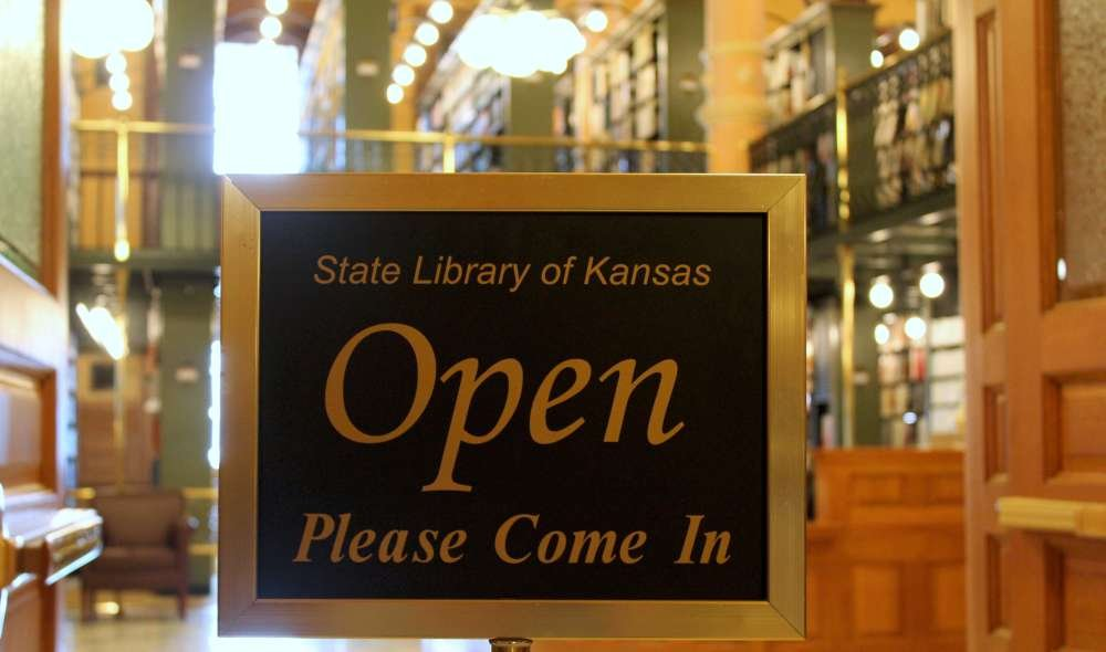 The State Library of Kansas has a hotline open to answer legislative questions. (Photo by Stephen Koranda)