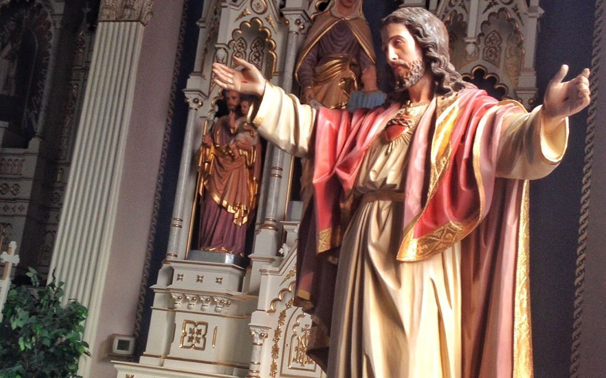 This statue of Jesus is located inside St. John Nepomucene Catholic Church in Pilsen, Kansas. (Photo by J. Schafer)