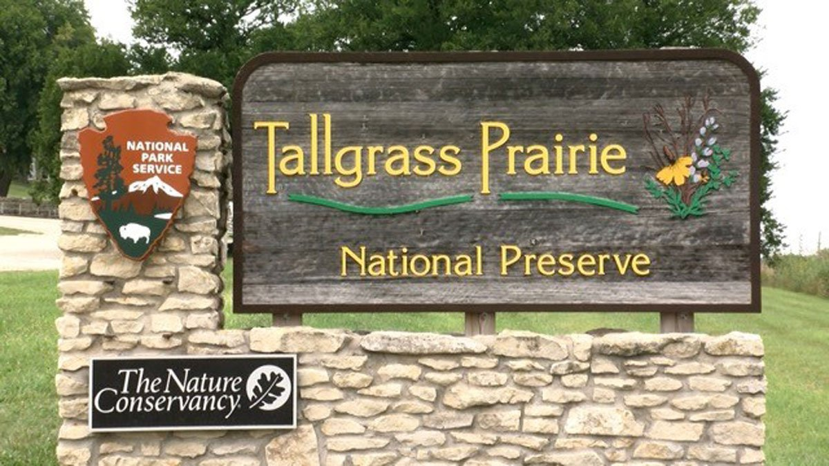 Entrance to the Tallgrass Prairie National Preserve in Chase County, Kansas. The national park site is the focus of a new documentary from independent filmmaker Dave Kendall, of public TV fame.