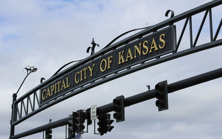 Gateway to the City of Topeka (Photo by J. Schafer)
