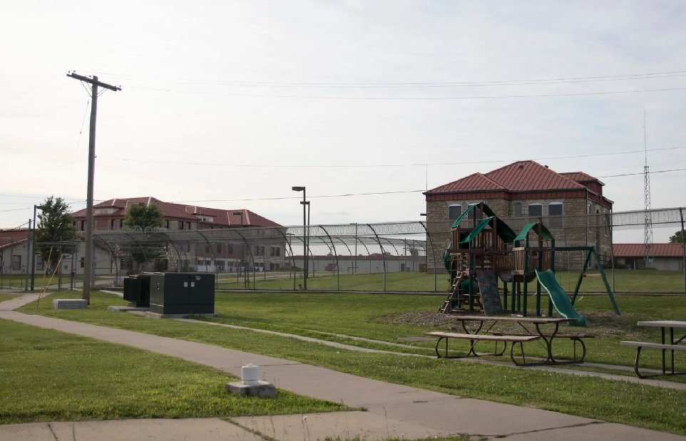 Some coronavirus precautions are still in place in Kansas prisons, while other parts of life have returned to normal. For example, women at the Topeka Correctional Facility are again allowed to spend time outside. (Photo by Nomin Ujiyediin, Kansas News Service)