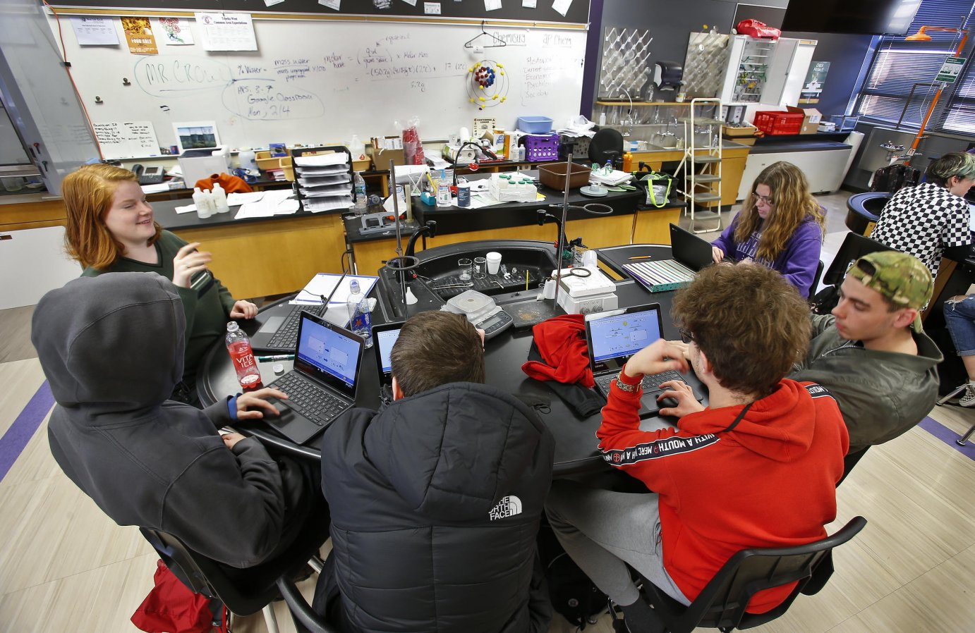 Districts in cities and rural areas have the most teacher vacancies. Filling positions in high demand subjects such as science, math and English can be particularly tough. (Photo by Chris Neal for the Kansas News Service)