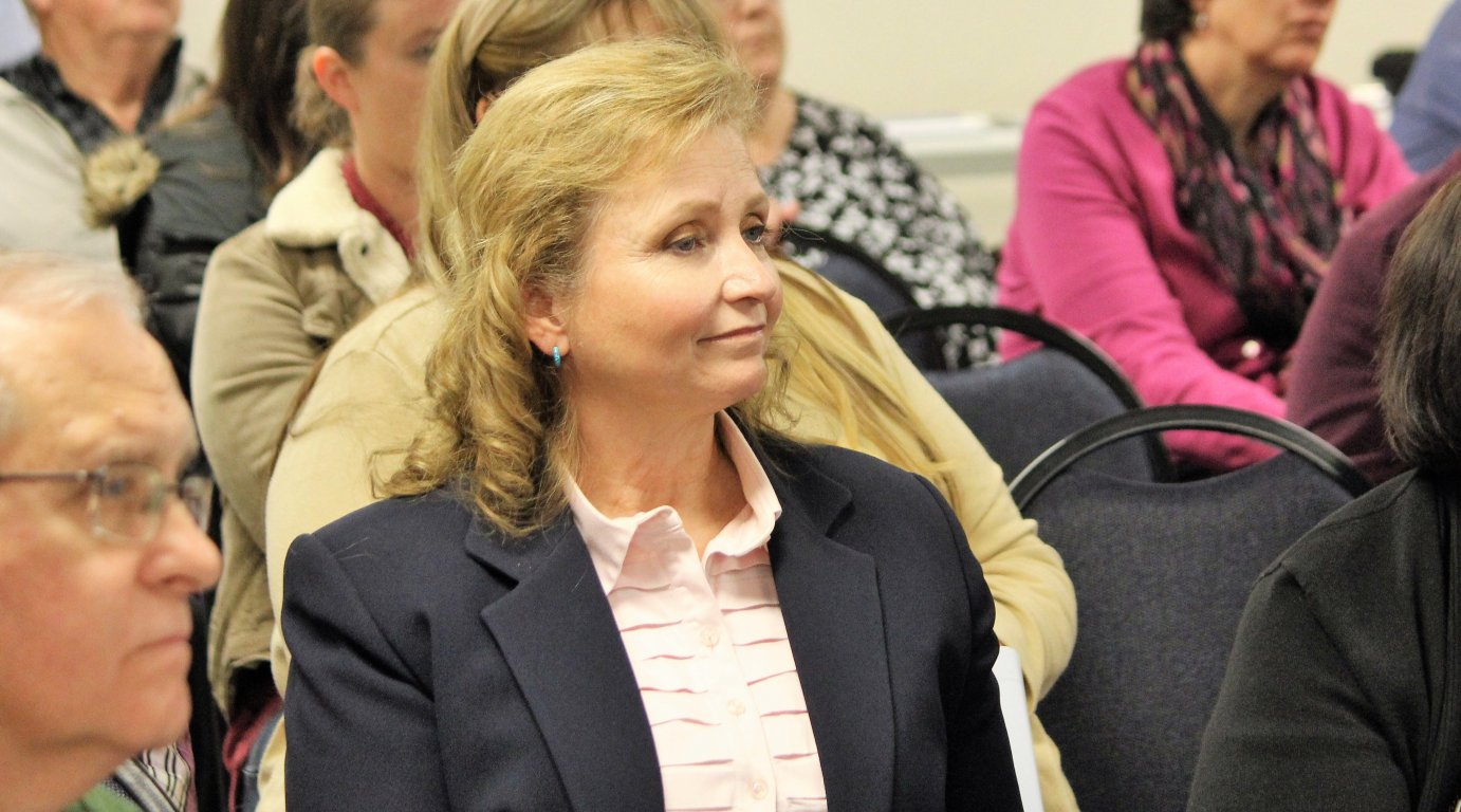 Senator Tyson at a meeting on health care earlier this year. (Photo by Jim McLean)