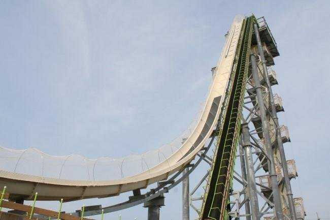 The Verruckt water slide in Kansas City. (Photo by Laura Spencer, KCUR)