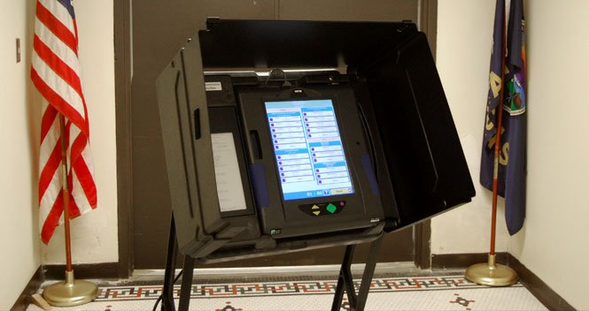 A voting machine in Sedgwick County, Kansas (Image credit: sedgwickcounty.org)