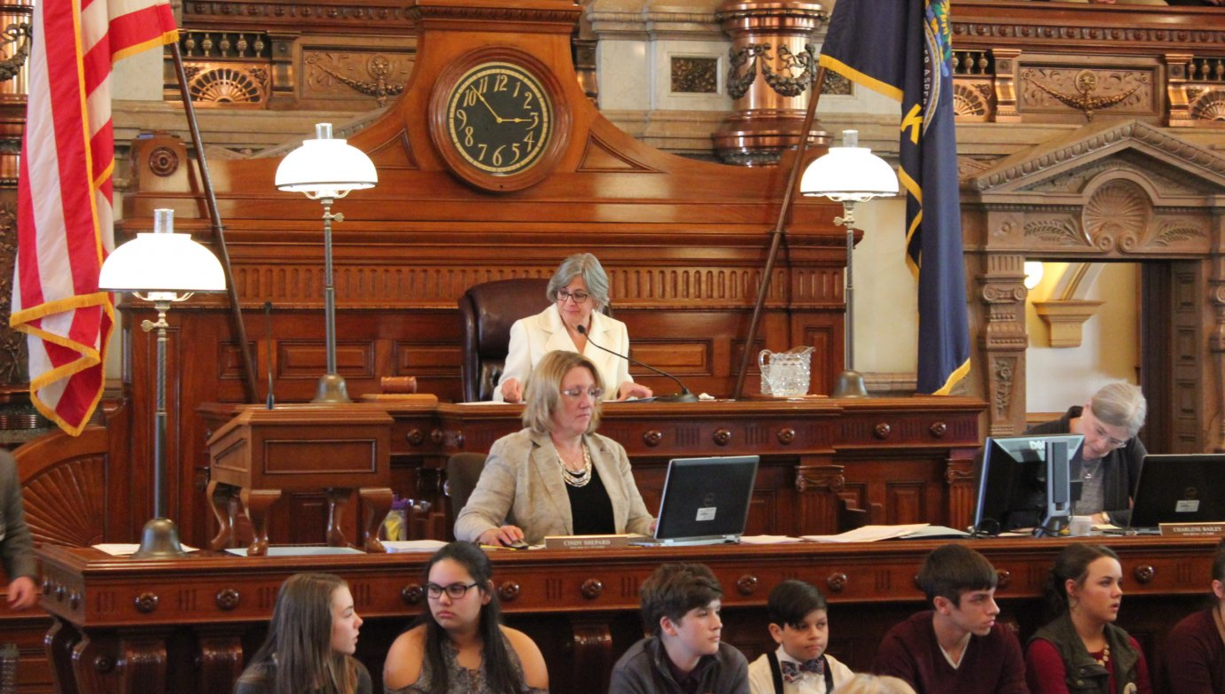 Senate President Susan Wagle oversees a meeting of the chamber. (Photo by Stephen Koranda)