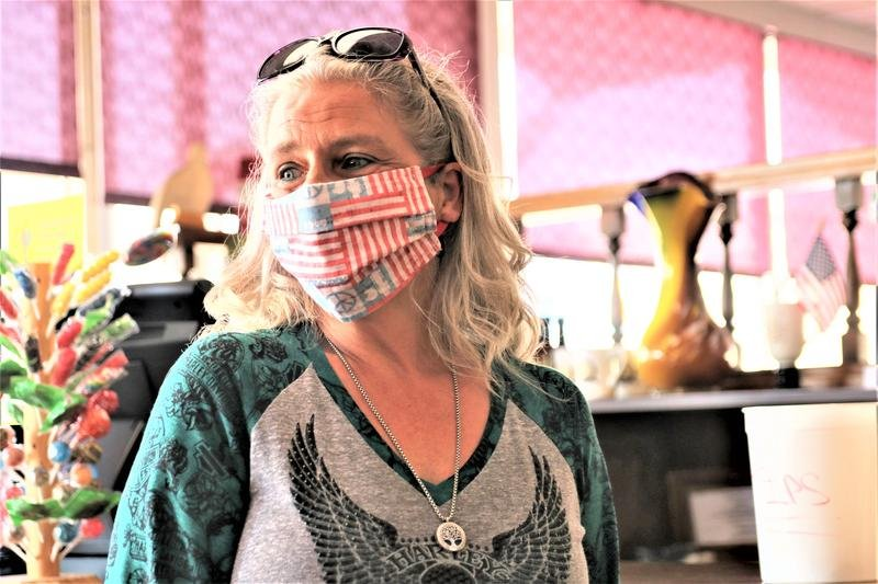 Sherri Calderwood has worked at a Topeka diner for 21 years but a health condition has her afraid to return during the COVID-19 pandemic. (Photo by Jim McLean, Kansas News Service)