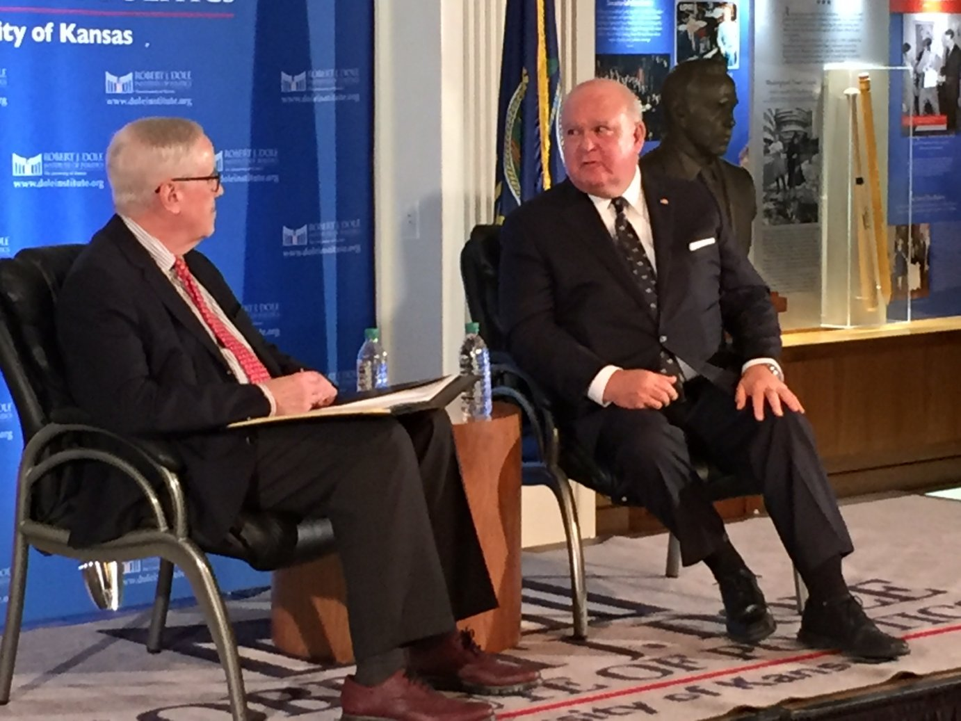 Bill Lacy and Joseph Westphal (photo by Kaye McIntyre)