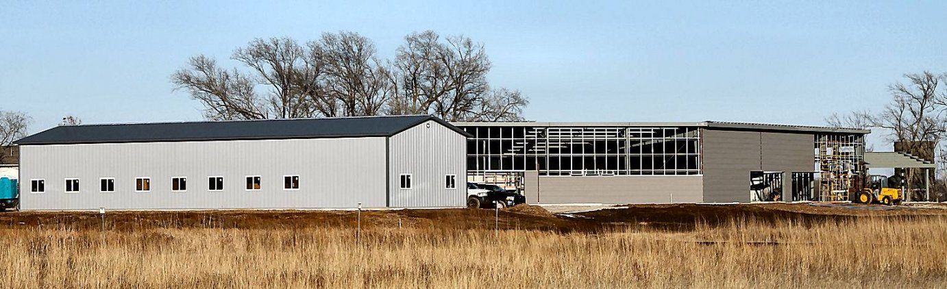 the Baker University Wetlands Discovery Center and storage facility (Photo credit: Baker Wetlands Facebook page)